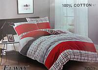Сатиновое постельное белье евро ELWAY 5009