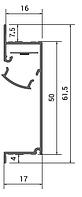 Профиль скрытого монтажа для ЛЕД-подсветки