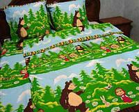 Комплект детского постельного белья Маша и медведь в лесу 011c5691ea902