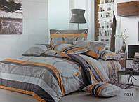 Сатиновое постельное белье евро ELWAY 5034
