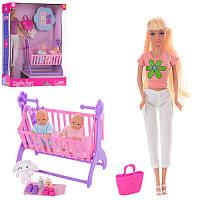 Кукла с детками-близнецами и аксессуарами 8359 Defa