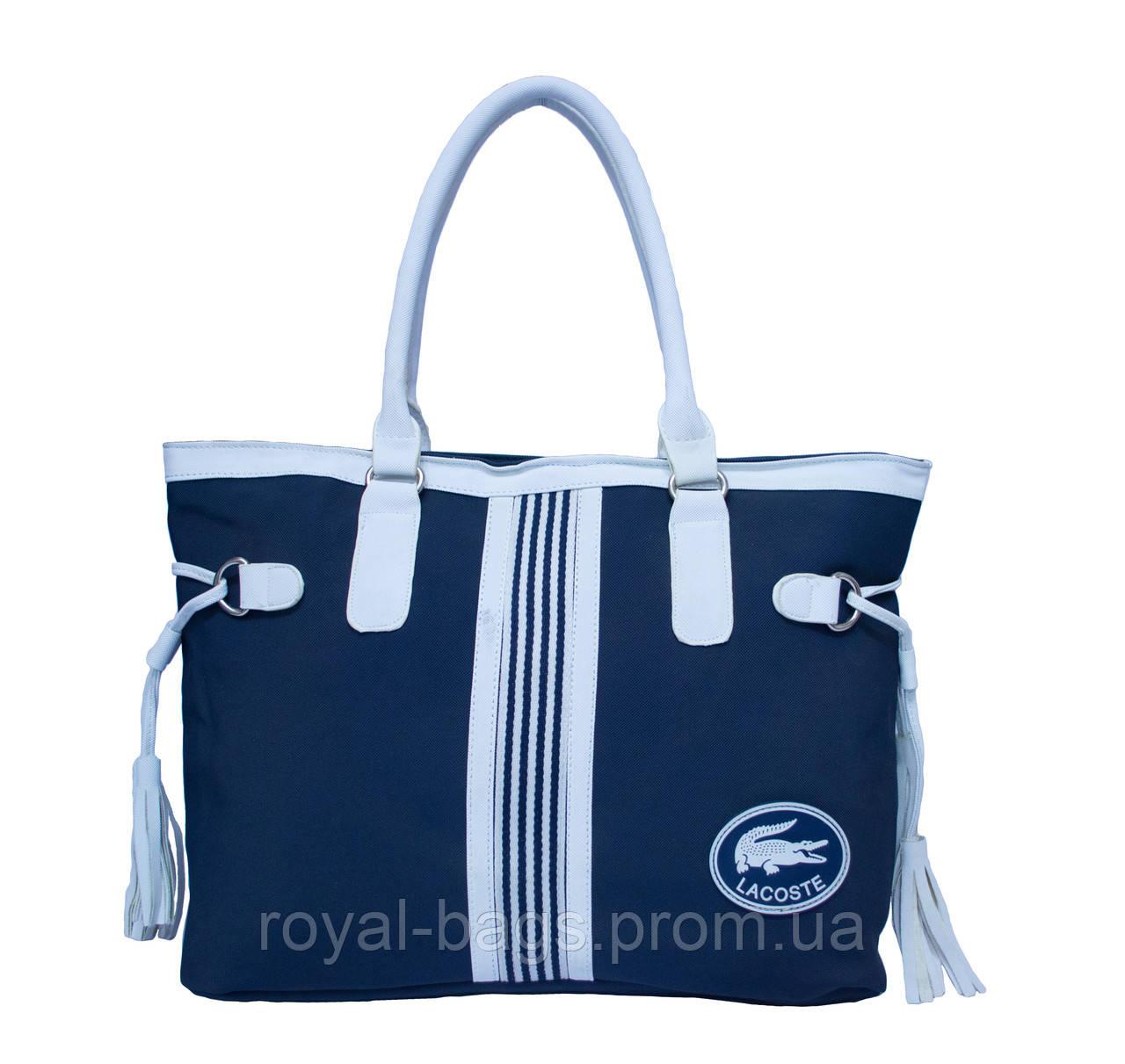 Сумка Lacoste Nelly Shopping синяя