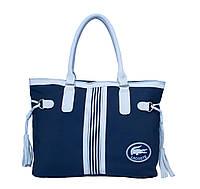 Сумка Lacoste Nelly Shopping синяя, фото 1
