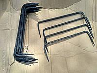 Скоба строительная кованая, фото 1
