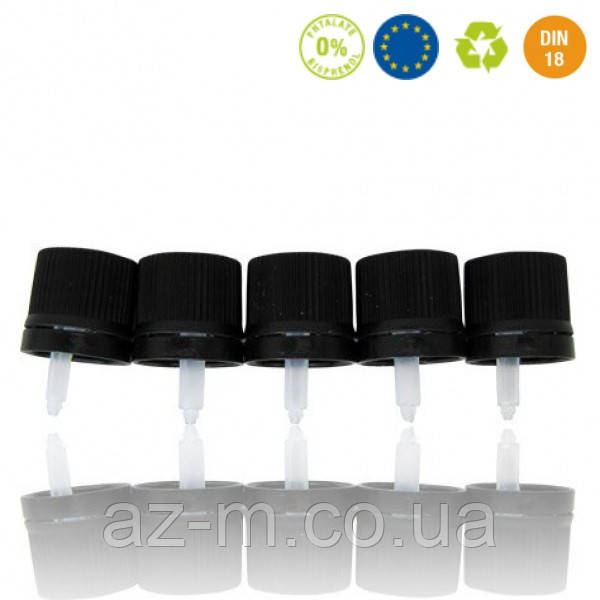 Крышки с капельницей для жидких эфирных масел DIN 18, 5 шт