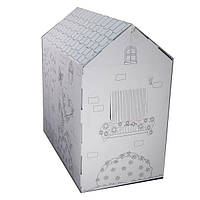 Картонный домик для раскраски