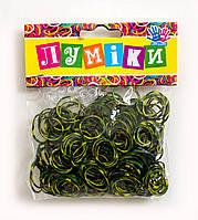 """Набор резинок для плетения """"Хаки"""", 300 шт, 12 застёжек."""