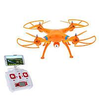 Квадрокоптер дрон Syma X8W c WIFI камерой (оранжевый)