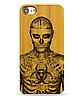 Деревянный чехол на Iphone 7 plus с лазерной гравировкой Рик Дженест - Фото