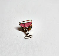 Значок Бокал вина, металлический
