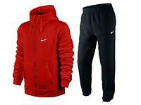 Спортивный костюм Nike, красный верх, черный низ, с3170