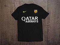 Клубная футболка Барселона, Barcelona, черная