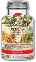 Красный женьшень+коллаген Red Ginseng Essence Mask Purederm