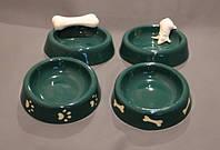 Миска керамическая для животных с декором
