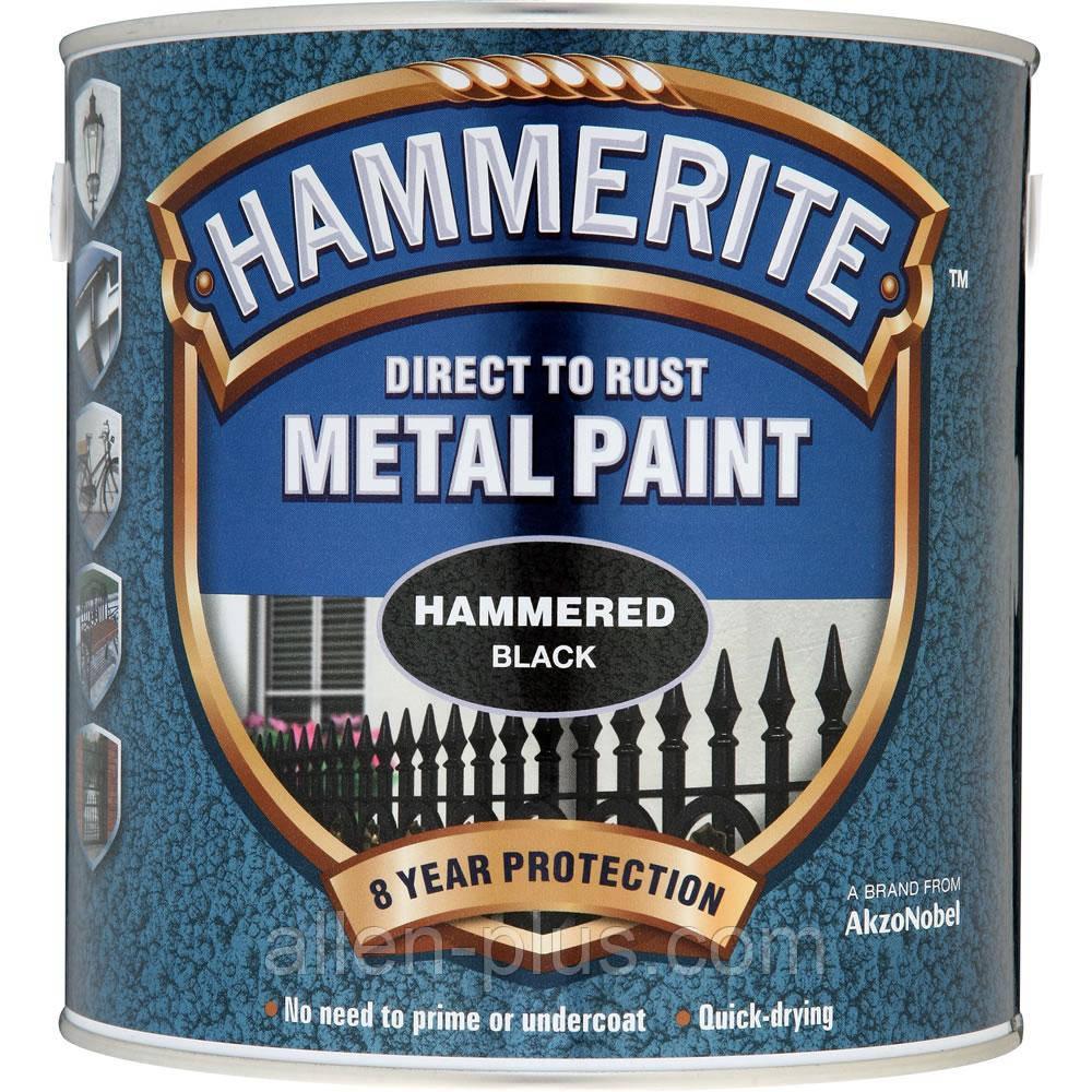 Краска HAMMERITE матовая ЧЕРНАЯ (2,5 л)