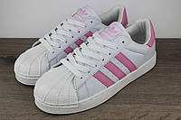 Кроссовки Adidas Superstar Pink   реплика, фото 1