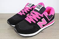 Кроссовки New Balance 574 Pink   реплика, фото 1