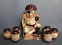 Набор для вина бутылка+6 рюмок Пират