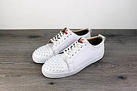 Christian Louboutin Louis Junior Spikes Men's Flat White