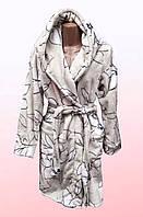 Женский халат на запах с капюшоном 2011/46