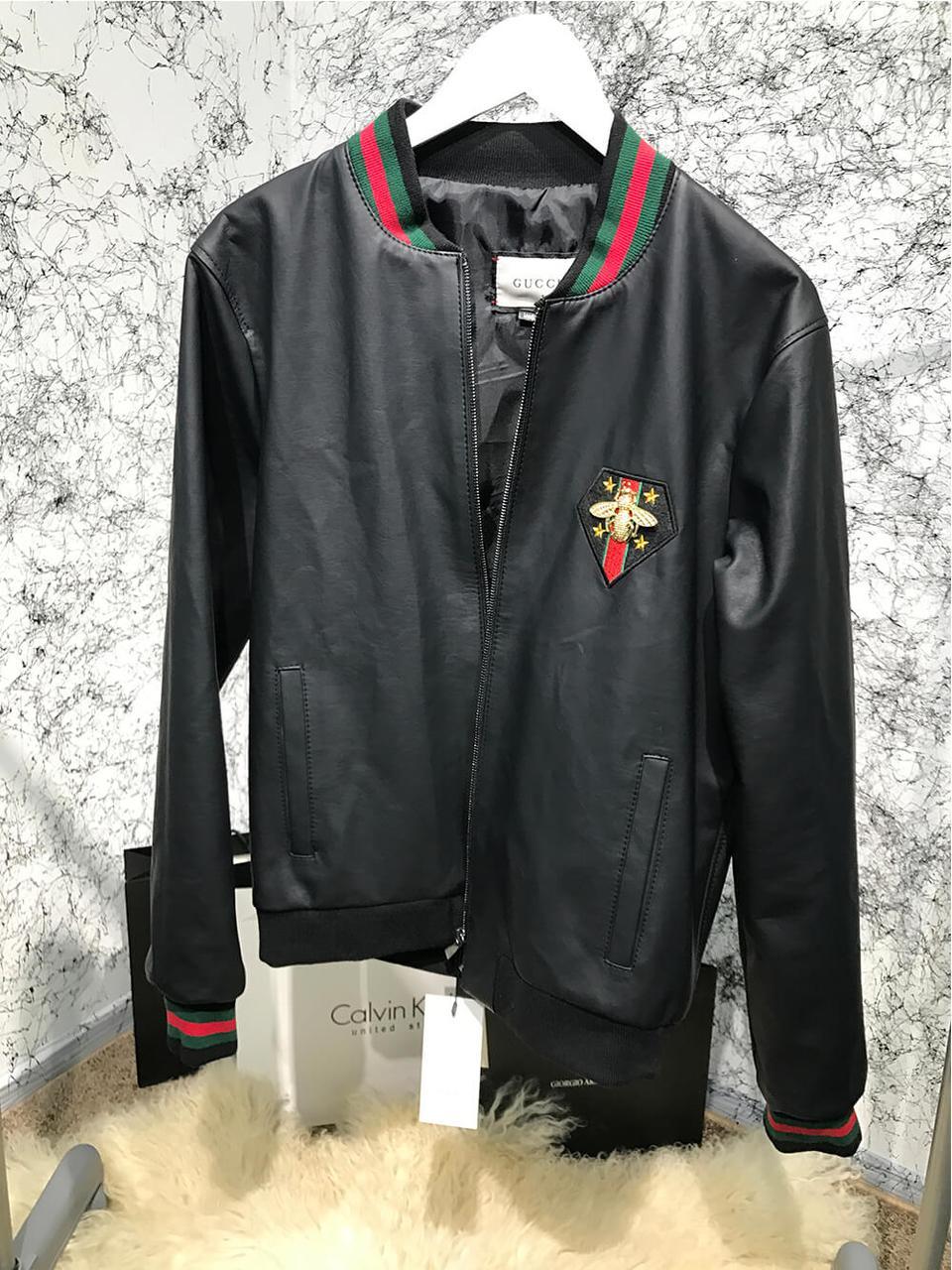 ba95c201121f Куртка Gucci Bee with Web Black реплика - Tali Fashion - стильная одежда и  аксессуары!