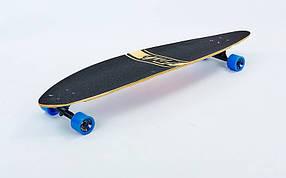 Лонгборд деревянный профессиональный из канадского клена 41in круизер SK-416-1 (черный-синий)