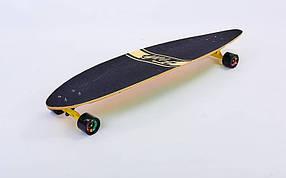 Лонгборд деревянный профессиональный из канадского клена 41in круизер SK-416-2 (желтый-зеленый)