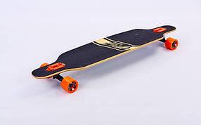 Лонгборд деревянный профессиональный из канадского клена 41in фрирайд SK-415-2 (черный-оранжевый)