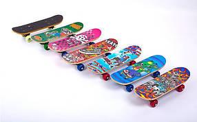 Скейтборд Mini в сборе (роликовая доска) SK-4931 (колесо-PVC, р-р деки 43х13х1,2см, 808Z,пласт.подв)