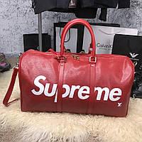 Дорожная сумка Softsided Luggage Louis Vuitton x Supreme Keepall Bandoulière 55 Epi Red