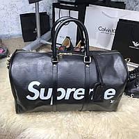 Дорожная сумка Softsided Luggage Louis Vuitton x Supreme Keepall Bandoulière 55 Epi Noir