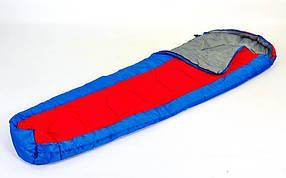 Спальный мешок одеяло с капюшоном SY-069 (PL,хлопок, 400г на м2,р-р 190+30х75см, тем.реж. +15 до -5)