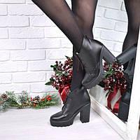 Ботинки женские Pill черные Зима