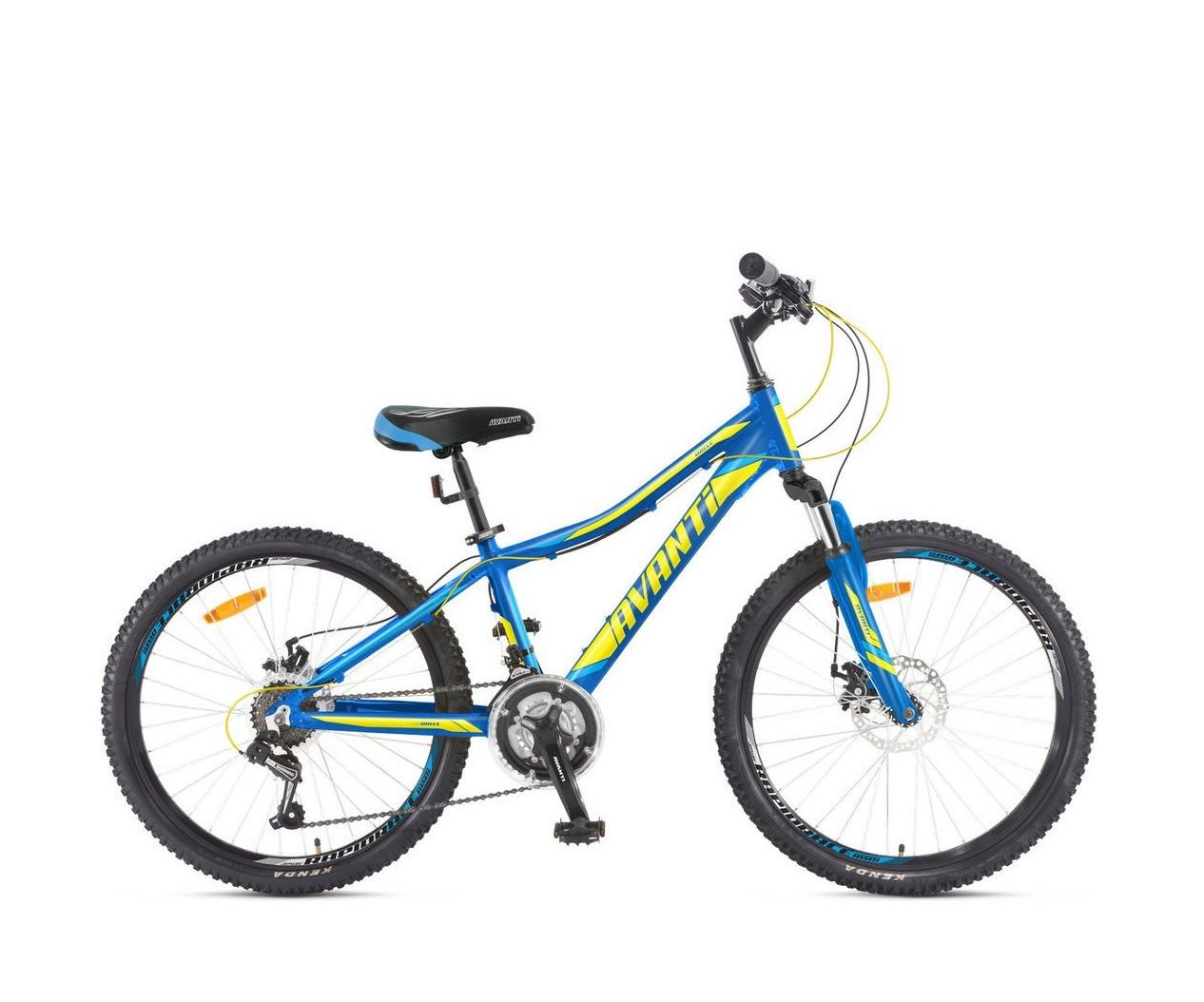 """Подростковый велосипед  AVANTI  DRIVE 24""""  Голубой/Желтый"""