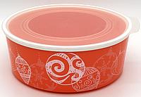 """Контейнер """"Акваконтроль"""" Новогоднее украшение"""" (1,5 л) в коралловом цвете"""