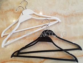 Вешалка-плечики пластиковая с перекладиной