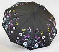 "Женский зонт полуавтомат ""купон"" на 10 спиц от фирмы ""Feeling Rain"""