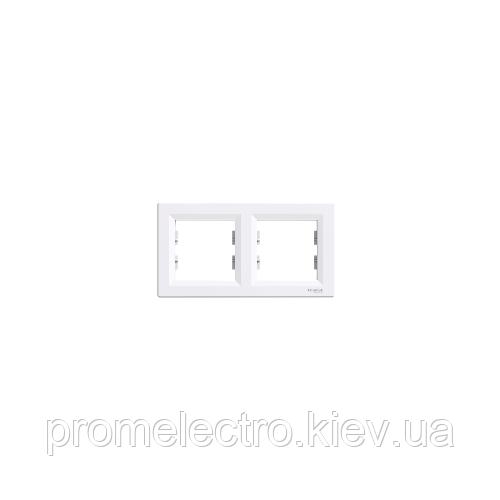 Рамка Schneider-Electric Asfora 2-постова горизонтальна біла EPH5800221