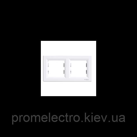 Рамка Schneider-Electric Asfora 2-постова горизонтальна біла EPH5800221, фото 2