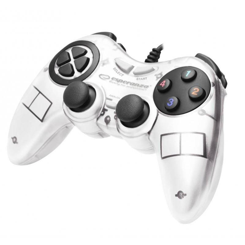 Геймпад Esperanza Fighter EGG105W White, USB, 12 кнопок - Sale365 в Николаеве