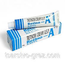 Третиноин крем для проблемной кожи Retino-A 0.025%, 20г.