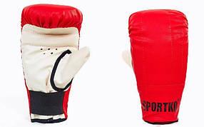Снарядные перчатки Кожвинил SPORTKO UR PD-3-R(L) (р-р L, красный)