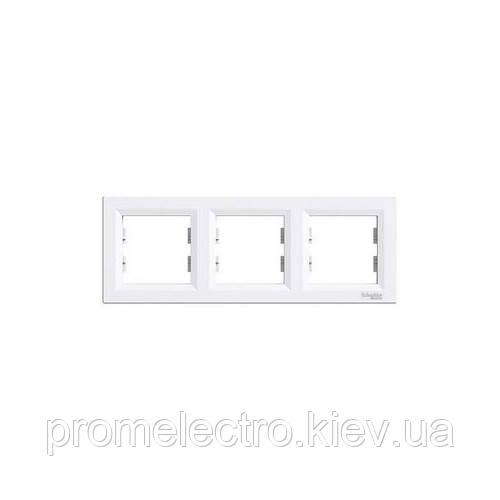 Рамка Schneider-Electric Asfora 3-постовая горизонтальная белая EPH5800321
