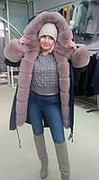 Распродажа!! Зимняя парка с мехом финского песца. размеры в наличии 44 46 48, фото 1