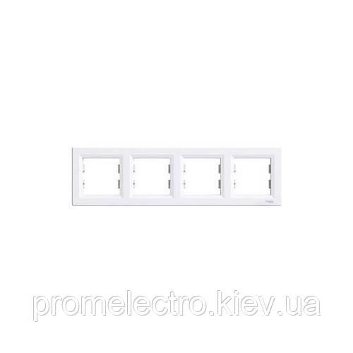 Рамка Schneider-Electric Asfora 4-постовая горизонтальная белая EPH5800421