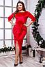 Женское бархатное платье (46-60) 8220, фото 6