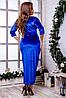 Женское бархатное платье (46-60) 8220, фото 9