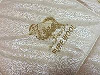 Элитное зимнее теплое одеяло из овечьей шерсти 180*215.