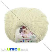 Пряжа Alize Baby Wool 50 г, 175 м, Кремовая 01, 1 моток (YAR-023238)