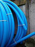 Харчова труба поліетиленова 110 мм 10 атм (синя), фото 2